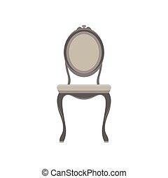 Chair classic vector furniture icon set illustration design retro isolated vintage comfort element decor