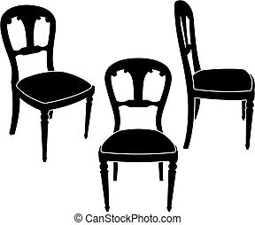 Wood chair Vector Clip Art EPS Images 5574 Wood chair clipart