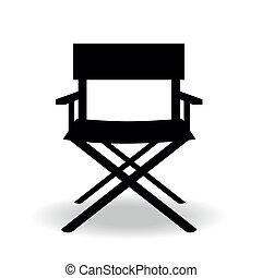 chair - a black silhouette of a cinema's director chair