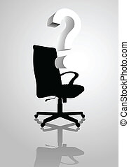 Chair - Conceptual illustration of an empty chair with...