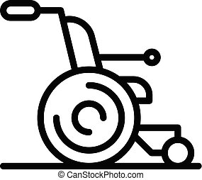 Chair for the disabled icon, outline style