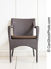 Chair furniture decoration on white wall