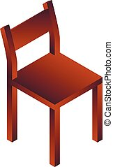 Chair house icon, isometric style