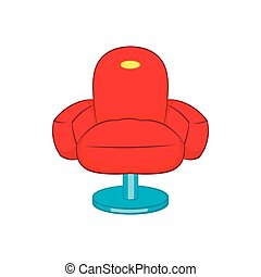 Chair icon, cartoon style