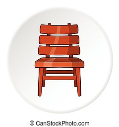 Chair icon, cartoon style