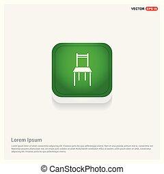 Chair Icon Green Web Button