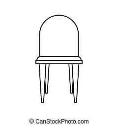Chair icon in outline style