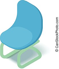 Chair icon, isometric 3d style
