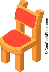 Chair icon, isometric style