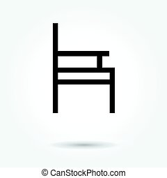 chair icon, modern design web element on white background. logo