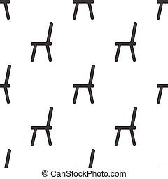 chair icon on white background