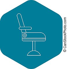 Chair icon, outline style