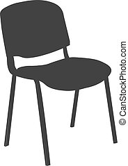 Chair icon vector illustration isolated on ligth blue background.