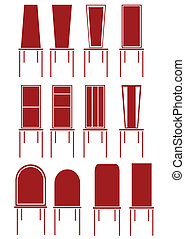 chair in red illustration