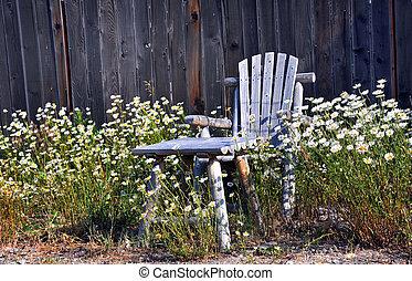 Chair in Sunny Garden