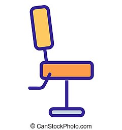 chair in the barbershop icon vector. Isolated contour symbol illustration