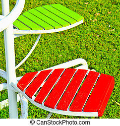 Chair in the garden
