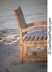 Chair in the snow
