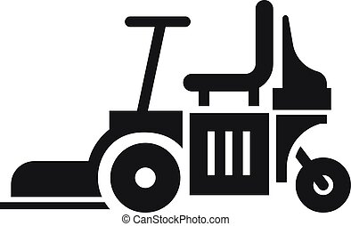 Chair lawn mower icon. Simple illustration of chair lawn mower vector icon for web design isolated on white background