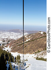 chair lift on the mountain top