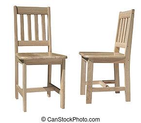 chair light wood