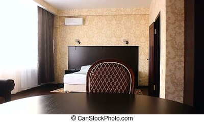 chair motion room bedroom Interior hotel with chairs and carpets beautiful luxury