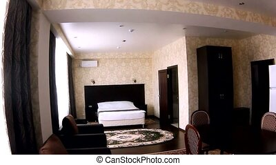 chair motion room Interior hotel with bedroom chairs and...