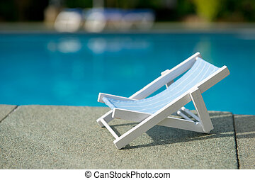 Chair near the swimming pool