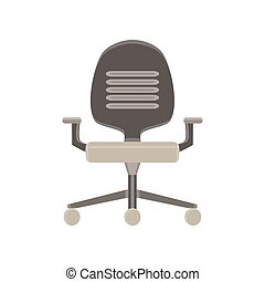 Chair office icon vector illustration furniture business isolated black seat design modern
