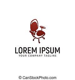 chair office logo design concept template