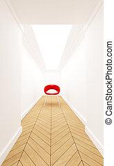 Chair on a corridor