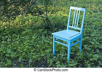 chair on lawn