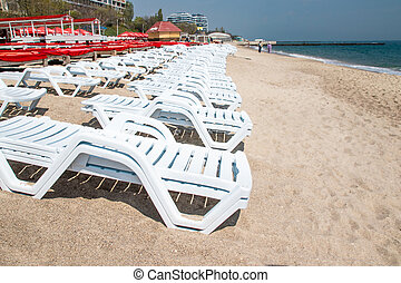 Chair on the beach Black Sea