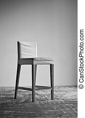 Chair on wall background