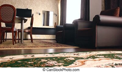 chair room Interior with chairs and carpets hotel beautiful...