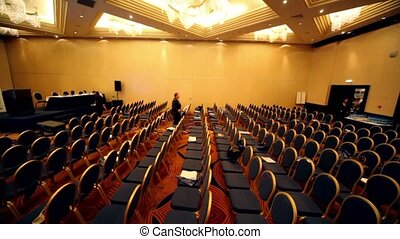 Chair rows in hall on International Tax Congress TaxExpo-2010