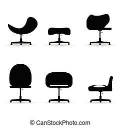 chair set black vector