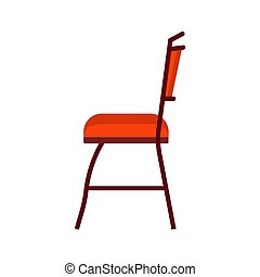 Chair side vie vector icon fruniture illustration isolated ...