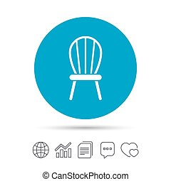 Chair sign icon. Modern furniture symbol.