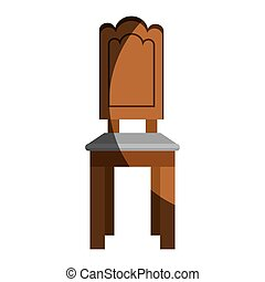 chair table wooden icon