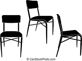 the same chair in three different sights