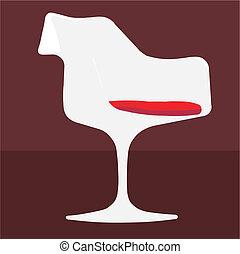 chair tulip vector illustration