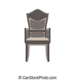 Chair vector icon furniture illustration office isolated design interior