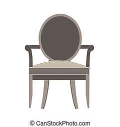 Chair vector icon illustration isolated view furniture design flat style retro modern