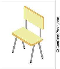 Chair Vector Illustration in Isometric Projection