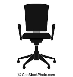 Chair with back icon, simple style.