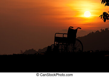 Chair With Sunset