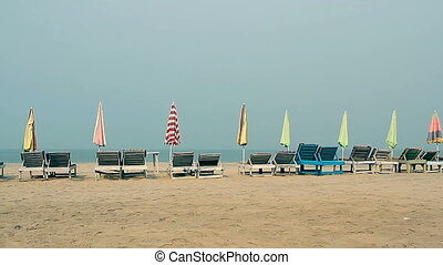 Chair with Umbrella near the Beach