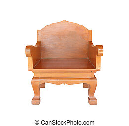Chair Wood, Isolated with clipping path