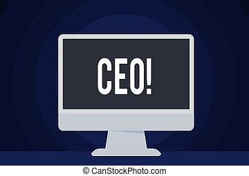 chairdemonstrating, głowa, ceo., chairanalysis, tekst, pokaz, wykonawca, controller., znak, szef, oficer, fotografia, konceptualny, szef